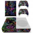 Trippy covers skin decal for Xbox one S console and controllers
