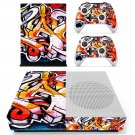 Graffiti tapet skin decal for Xbox one S console and controllers