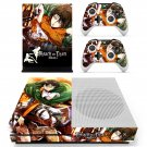 Attack on Titan skin decal for Xbox one S console and controllers