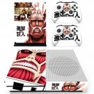 Attack on Titan skin decal for Xbox one Slim console and controllers