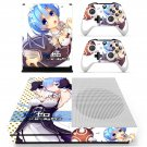 Re zero skin decal for Xbox one S console and controllers