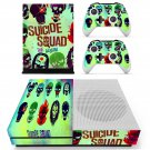 Suicie Squad skin decal for Xbox one S console and controllers