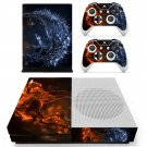 Water splash skin decal for Xbox one S console and controllers