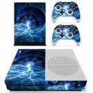 Blue lightning skin decal for Xbox one S console and controllers