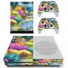 Watercolor Painting skin decal for Xbox one S console and controllers