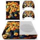 Flower oil painting skin decal for Xbox one S console and controllers