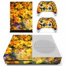 Yellow flowers oil painting skin decal for Xbox one S console and controllers