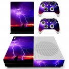 Lightning sky skin decal for Xbox one S console and controllers