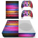 Colorful wooden board skin decal for Xbox one Sconsole and controllers