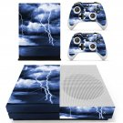 Electric Lightning sky skin decal for Xbox one S console and controllers