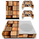 Square block skin decal for Xbox one S console and controllers