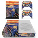 The Scream skin decal for Xbox one Slim console and controllers