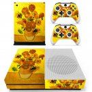 Sunflower painting skin decal for Xbox one S console and controllers