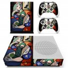 Woman with book  skin decal for Xbox one S console and controllers