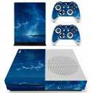 Night Space scene skin decal for Xbox one S console and controllers