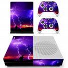Lightning sky  skin decal for Xbox one Slim console and controllers