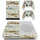 Blue vintage skin decal for Xbox one S console and controllers