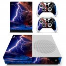 Lightning cloudy sky skin decal for Xbox one Slim console and controllers