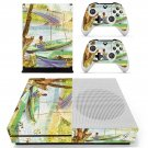 Fishing in spring  skin decal for Xbox one Slim console and controllers
