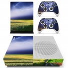 Lightning sky with nature view skin decal for Xbox one Slim console and controllers
