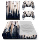 Wooden face skin decal for Xbox one S console and controllers