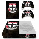 St Kilda Football Club skin decal for Xbox one S console and controllers