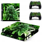 Weed Sativa decal for PS4 PlayStation 4 console and 2 controllers