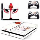 Okami Zekkeiban decal for PS4 PlayStation 4 console and 2 controllers