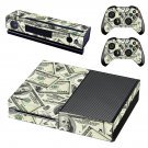 100 Dollar Bills Pattern skin decal for Xbox one console and controllers