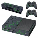 Hexagon Pattern Green Background skin decal for Xbox one console and controllers