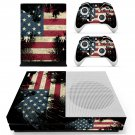 Vintage Custom American Flag skin decal for Xbox one S console and controllers