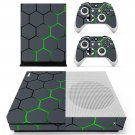 Hexagon Pattern Green Background skin decal for Xbox one S console and controllers