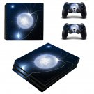 Bright Moon ps4 pro skin decal for console and controllers