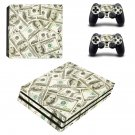 100 Dollar Bills Pattern ps4 pro skin decal for console and controllers