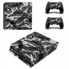 Woodland Camouflage ps4 pro skin decal for console and controllers