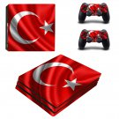 Turkey Flag ps4 pro skin decal for console and controllers