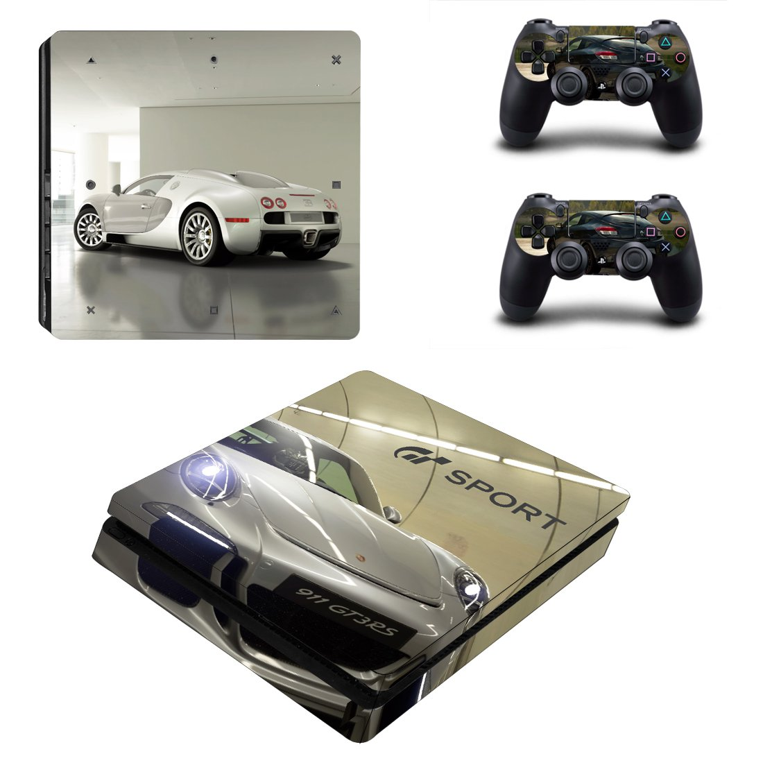 Gran Turismo Sport ps4 slim skin decal for console and controllers