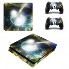 Bursting Moon ps4 slim skin decal for console and controllers