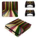 Colorful Wooden ps4 slim skin decal for console and controllers