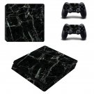 Black Crack Surface ps4 slim skin decal for console and controllers