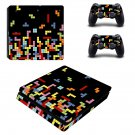 Tetris Style Blocks ps4 slim skin decal for console and controllers