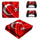 Turkish Flag ps4 slim skin decal for console and controllers