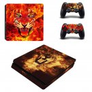 Burning Tiger ps4 slim skin decal for console and controllers