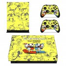 cuphead xbox one X skin decal for console and 2 controllers