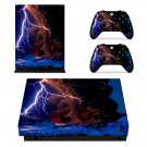Lightning cloudy sky xbox one X skin decal for console and 2 controllers