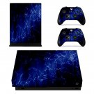 Blue Design xbox one X skin decal for console and 2 controllers
