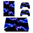 Electric effect xbox one X skin decal for console and 2 controllers