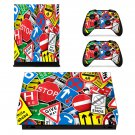 Road sign board xbox one X skin decal for console and 2 controllers