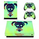 Harly quinn Suicide squad xbox one X skin decal for console and 2 controllers