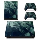 Dark Abstract Pattern xbox one X skin decal for console and 2 controllers
